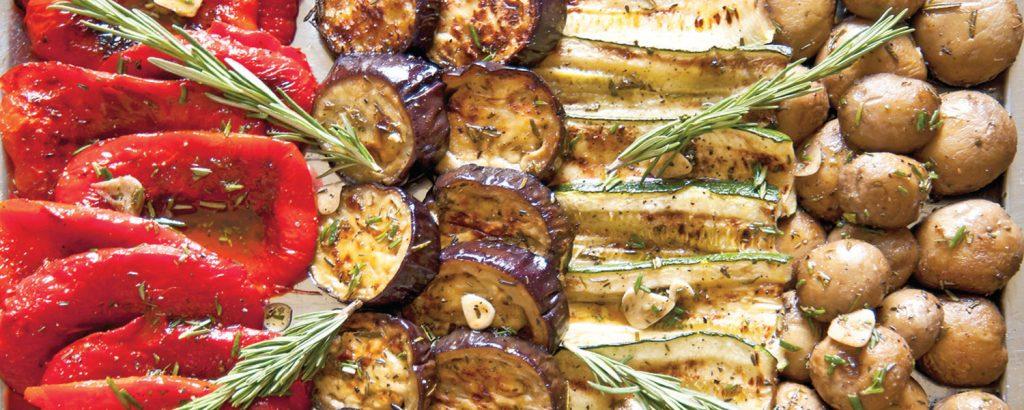 Λαχανικά αντιπάστο με αρωματικό λάδι