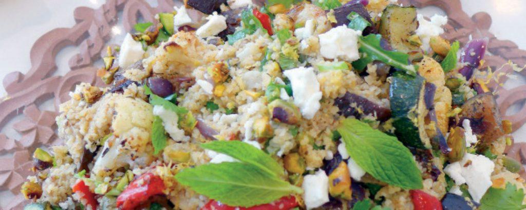 Σαλάτα με ψητά λαχανικά και πουργούρι
