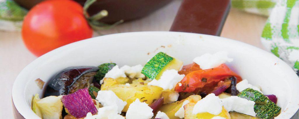 Λαχανικά τουρλού (μπριάμ) με φέτα