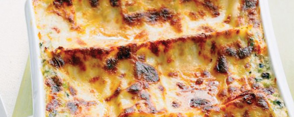Λαζάνια με σπανάκι και τυριά