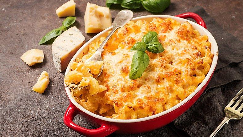 Μακαρόνια ο-γκρατέν με τυρί και ζαμπόν
