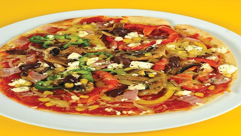 Μεσογειακή πίτσα τορτίγια