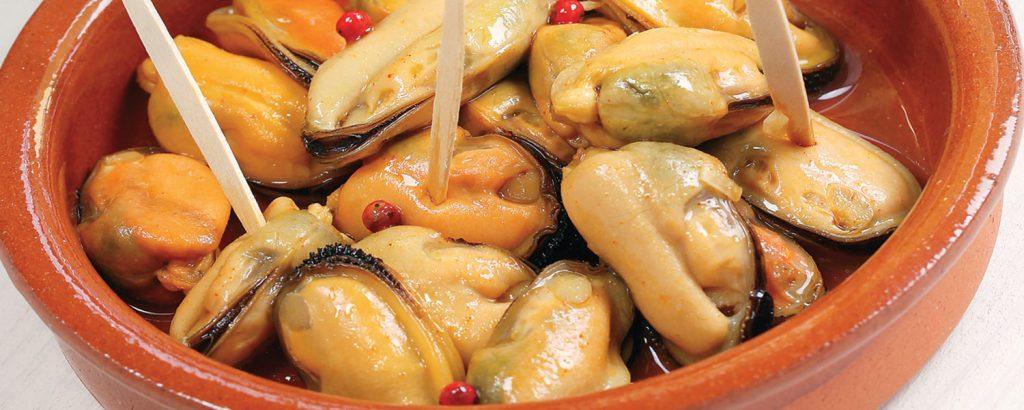 Ισπανικά μύδια μαρινάτα (Mejillones Escabechados)