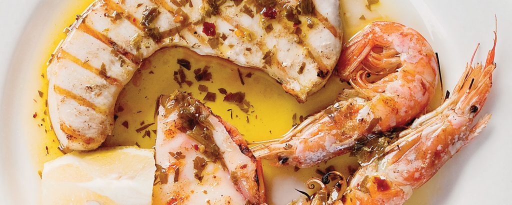Σικελικό «Mix Grill» θαλασσινών σε τηγάνι/σχάρα