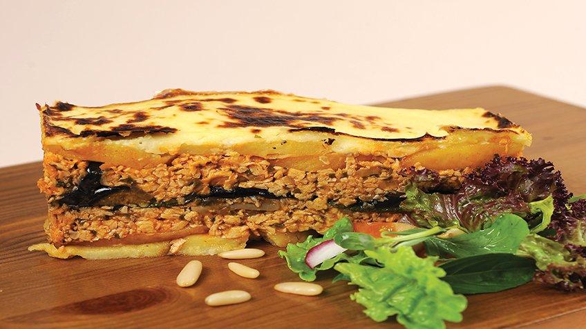 Μουσακάς χορτοφαγικός με κιμά σόγιας