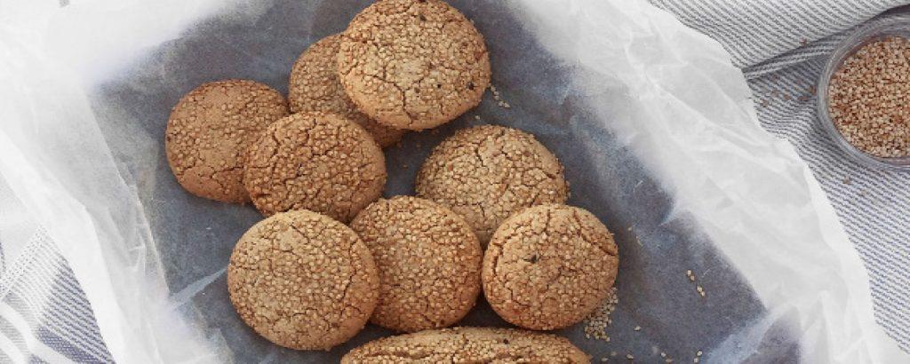 Μπισκότα με ταχίνι και αμύγδαλα