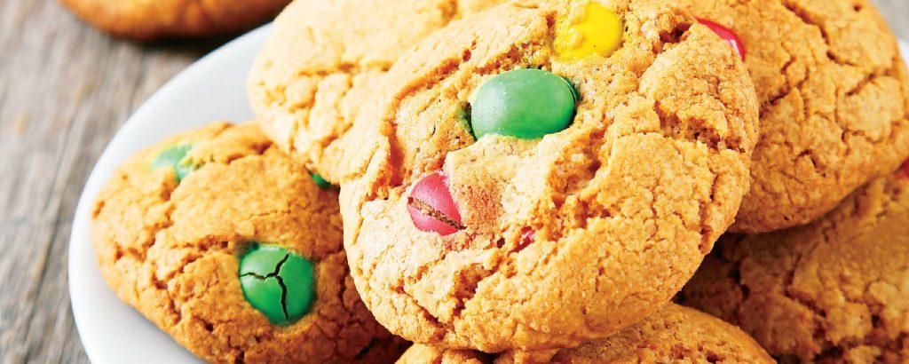 Mπισκότα με σοκολατένιες καραμέλες