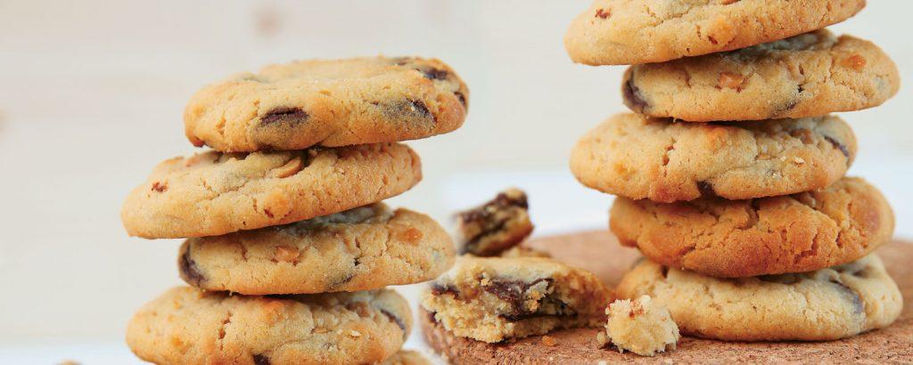 Μπισκότα φυστικοβούτυρου και σοκολάτας