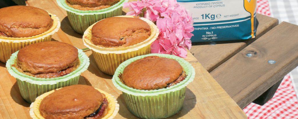 Muffins με φραγκοστάφυλο