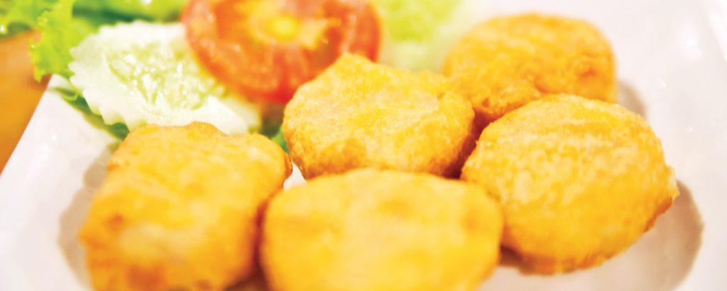 Τραγανά nuggets  κοτόπουλου στο φούρνο