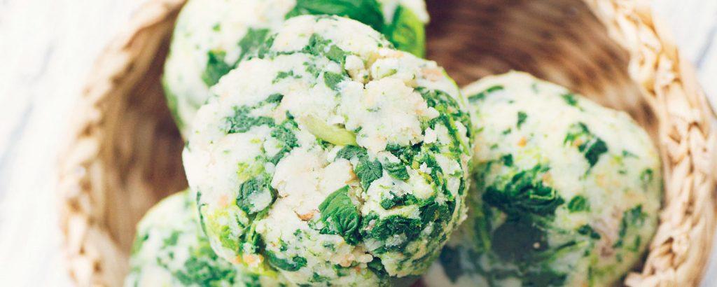 Νιόκι με σπανάκι και τυρί