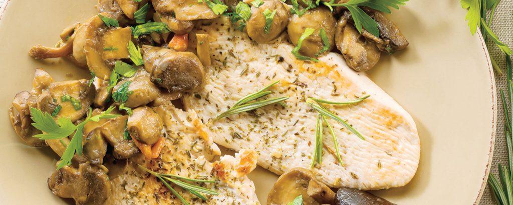 Παγιάρ κοτόπουλου με μανιτάρια