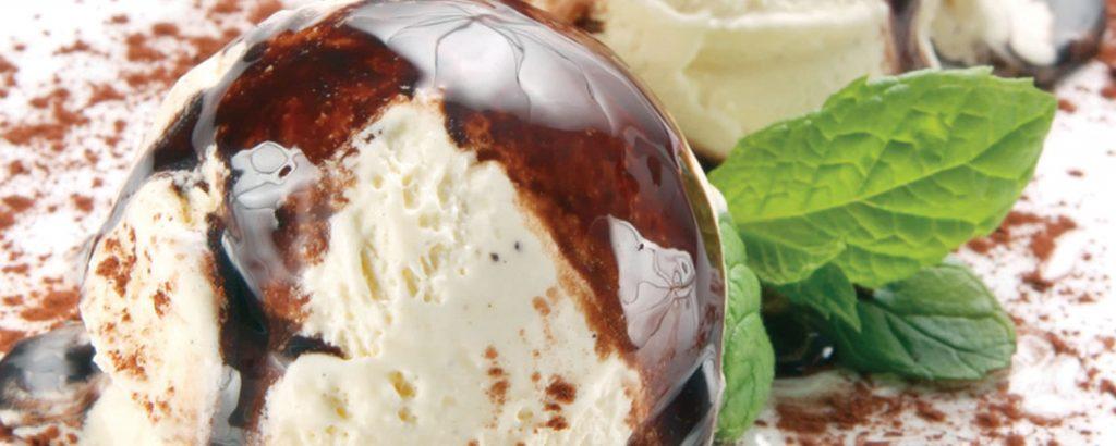 Παγωτό καραμέλα με χαρουπόμελο