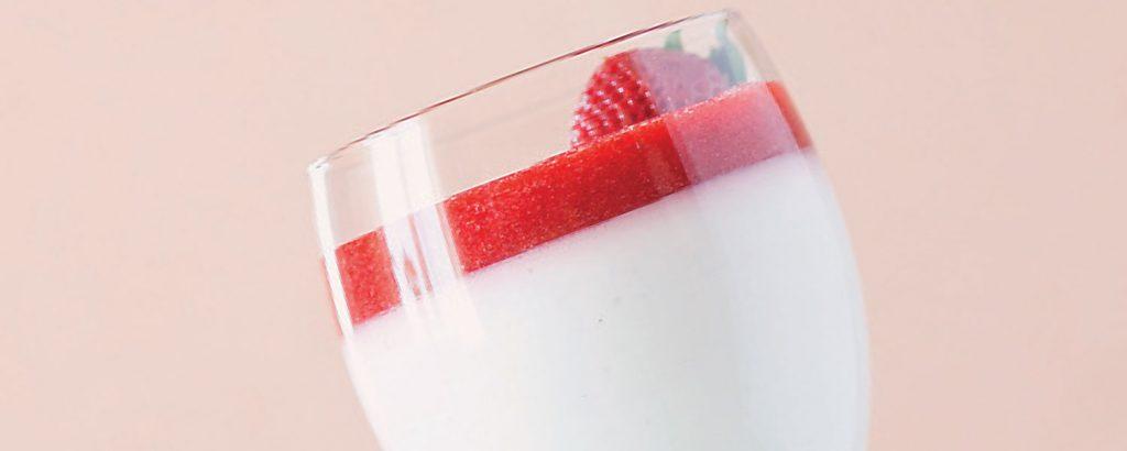 Πανακότα με φράουλα