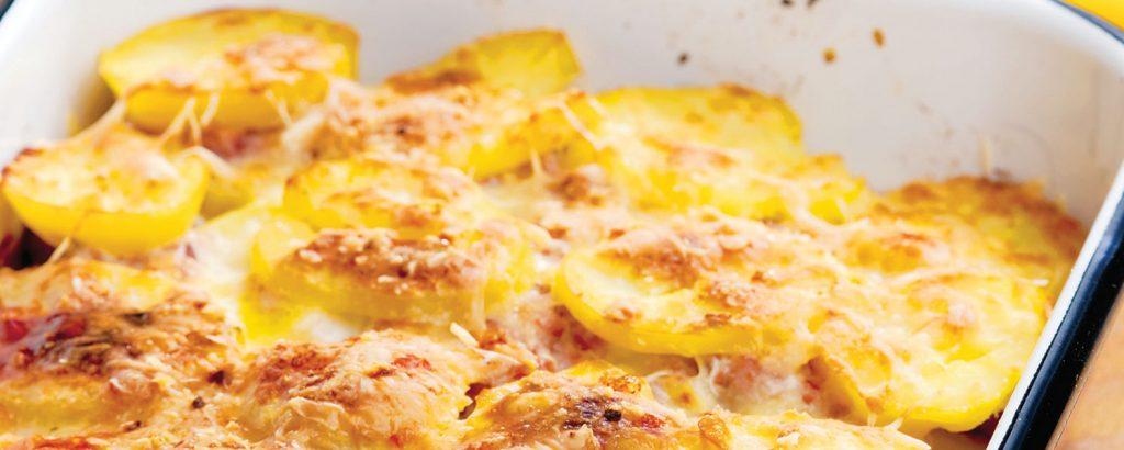 Πατάτες με ζαμπόν και τυρί