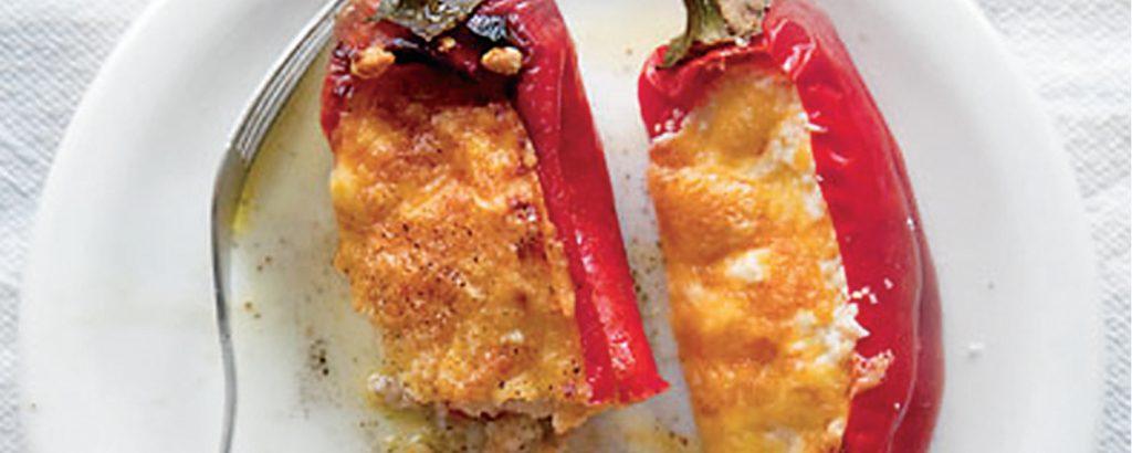 Πιπεριές γεμιστές με φέτα