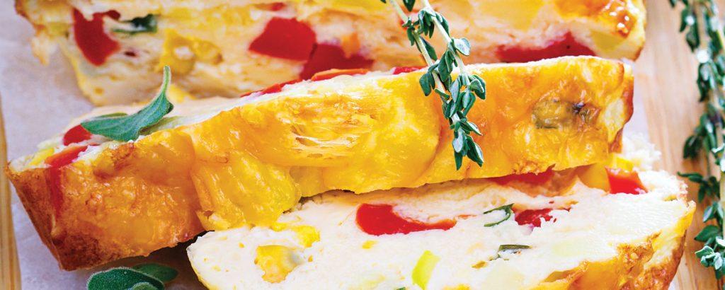 Πίτα-κέικ με τυριά και λαχανικά