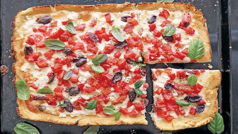 Πίτσα με βάση από κουνουπίδι