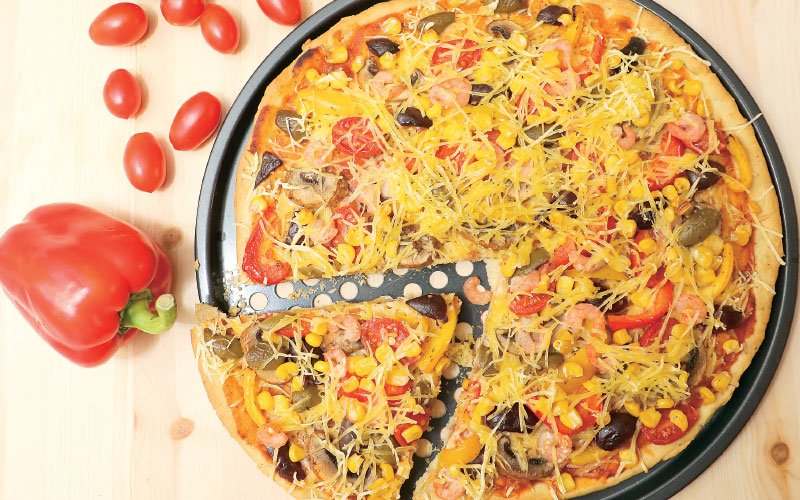 Πίτσα με γαρίδες