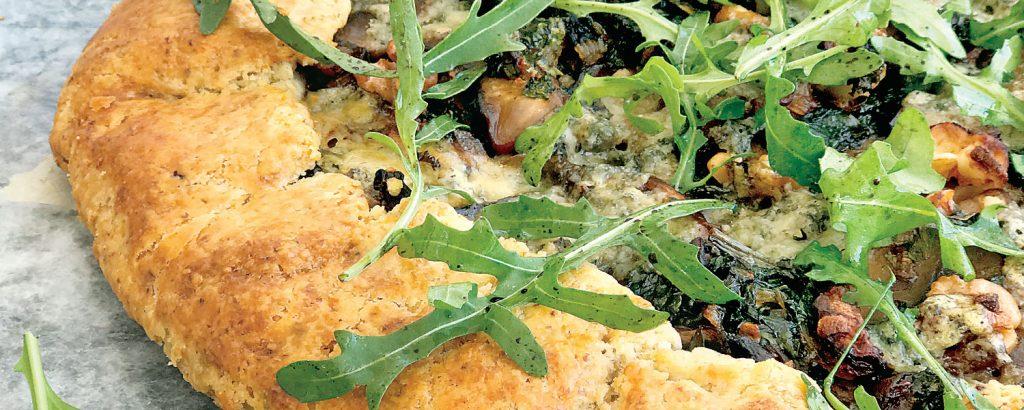 Πίτα με μανιτάρια και λαχανίδα