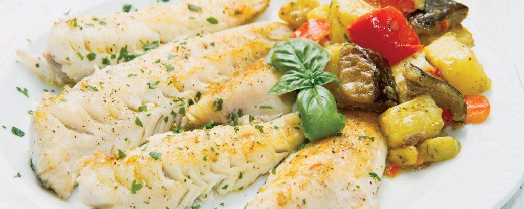Ψάρι στο φούρνο µε λαχανικά