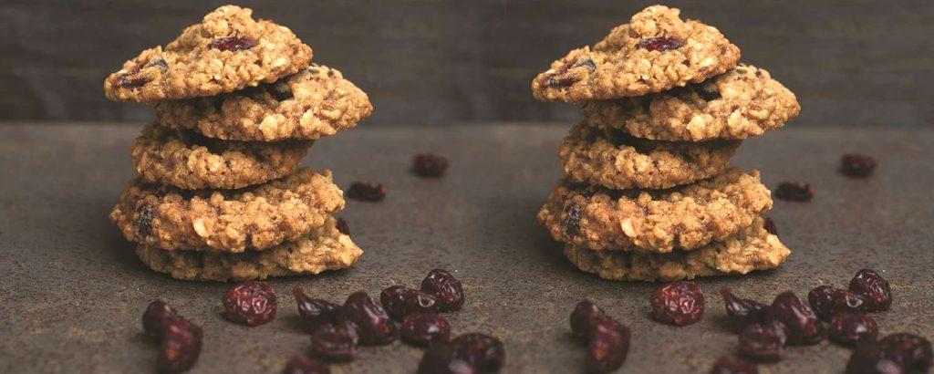 Αρωματικά μπισκότα με βρώμη Quaker και κράμπερι