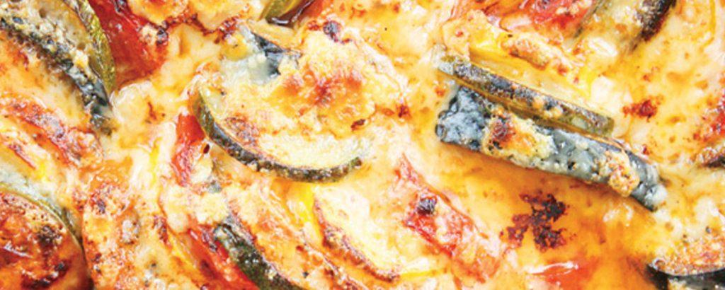 Ρατατούιγ φούρνου με τυρί (Ratatouille)