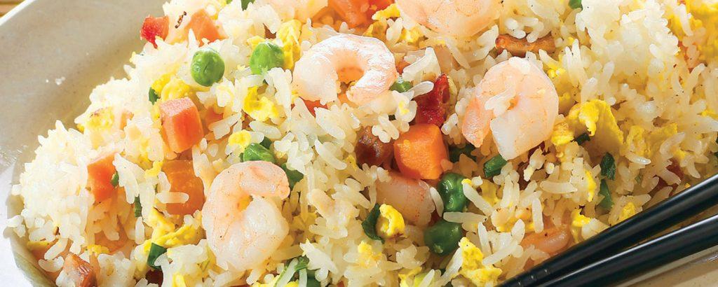 Ρύζι τηγανητό με γαρίδες