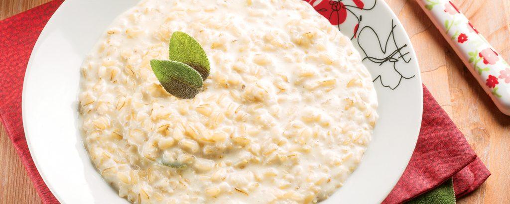 Ριζότο με κρέμα γάλακτος
