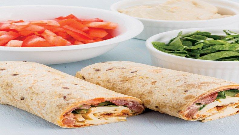 Ρολά με σαλάμι και τυρί