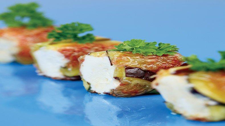 Ρολά µε σύκα και κατσικίσιο τυρί