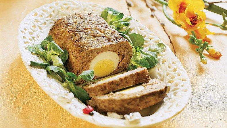 Ρολό κιμά με αβγό