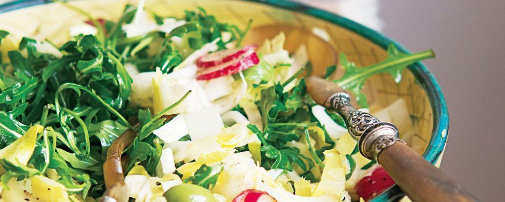 Σαλάτα με σικορέ και dressing μουστάρδας