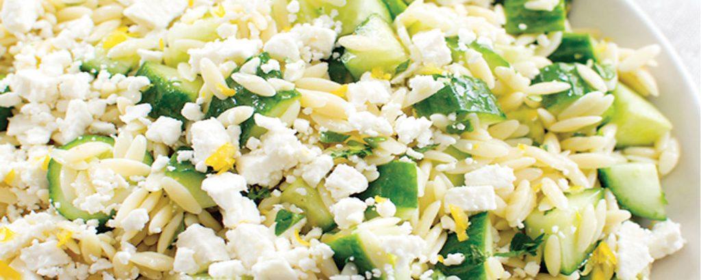 Κριθαράκι σαλάτα με λεμόνι