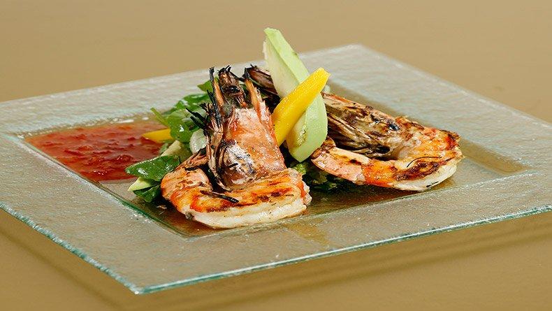 Σαλάτα με γαρίδες σχάρας