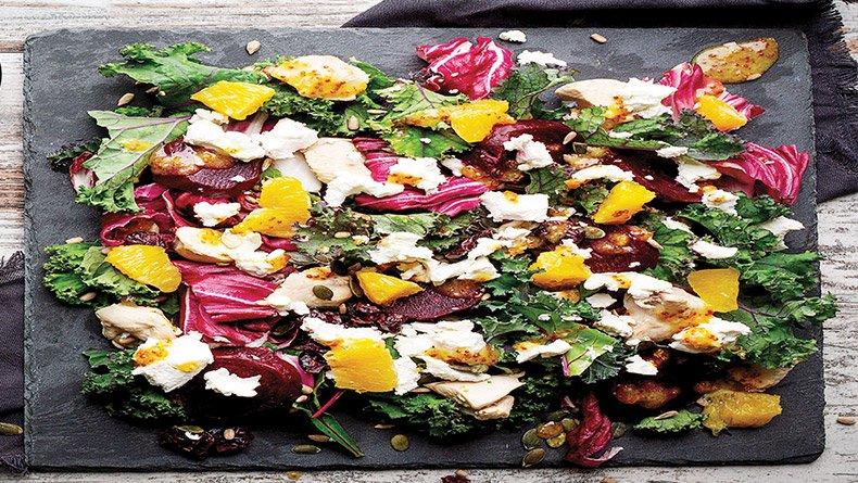 Σαλάτα με παντζάρι και κατσικίσιο τυρί