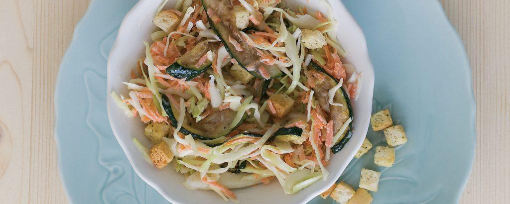 Σαλάτα με ψητά κολοκύθια και φινόκιο