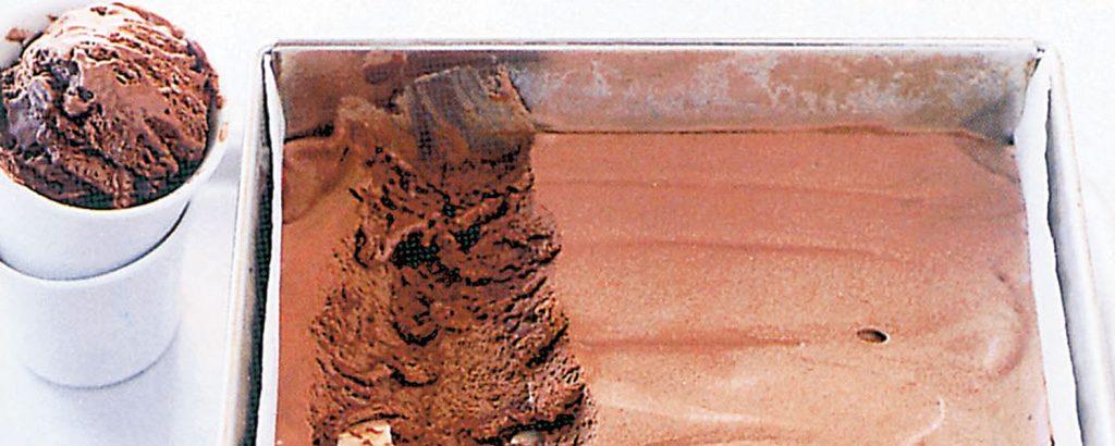 Σεμιφρέντο με τριπλή σοκολάτα