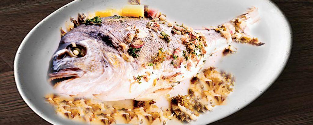 Ψάρι σχάρας στο φούρνο