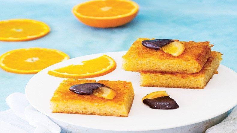 Σιμιγδαλένια πορτοκαλόπιτα