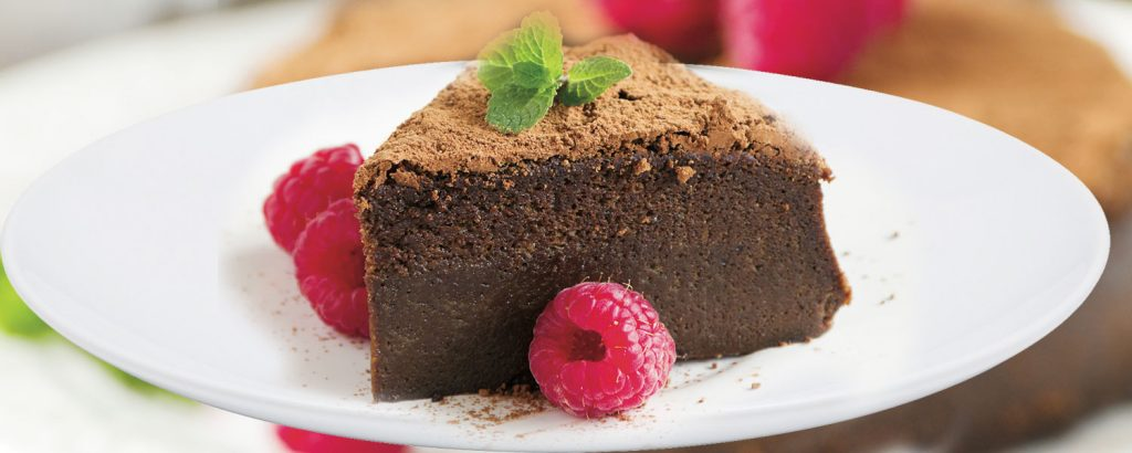 Έντονα σοκολατένιο κέικ-μους