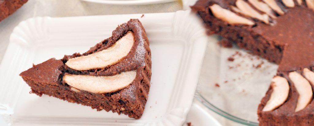 Σοκολατένια αχλαδόπιτα