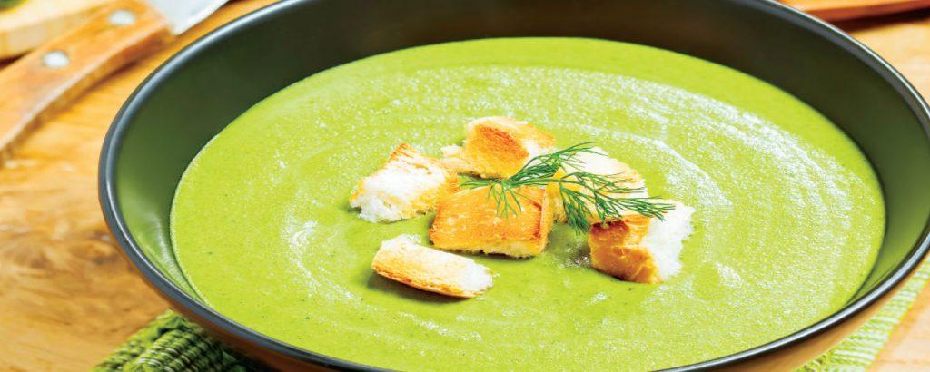Σούπα με μπρόκολο και τυρί μασκαρπόνε