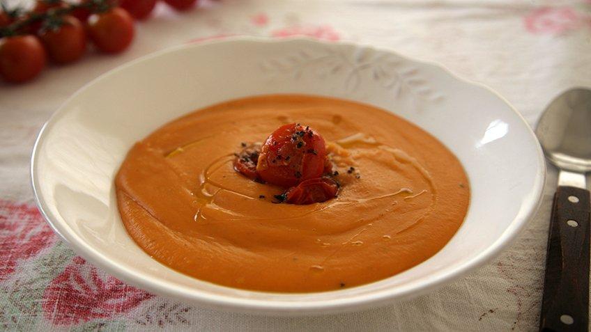Σούπα γλυκοπατάτας με chillies