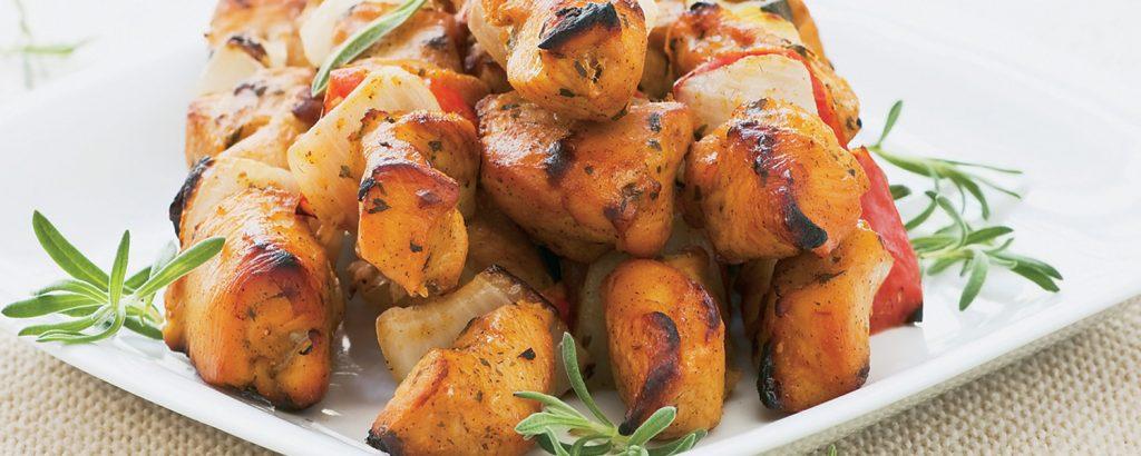Σουβλάκια κοτόπουλου με βαλσάμικο