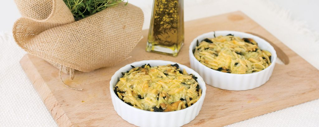 Σπανάκι µε κρέµα και τυριά στο φούρνο