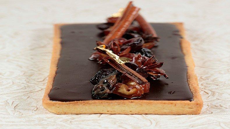 Τάρτα μαύρης σοκολάτας