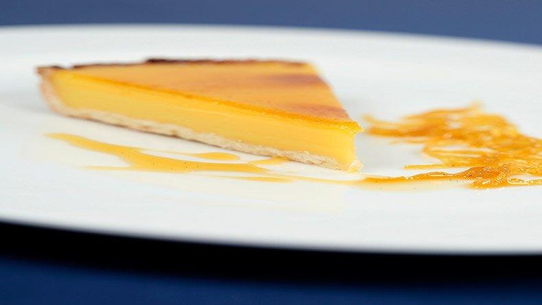 Τάρτα με κρέμα λεμονιού
