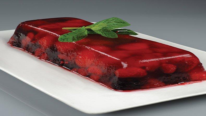Τερίν-ζελέ µε κόκκινα φρούτα