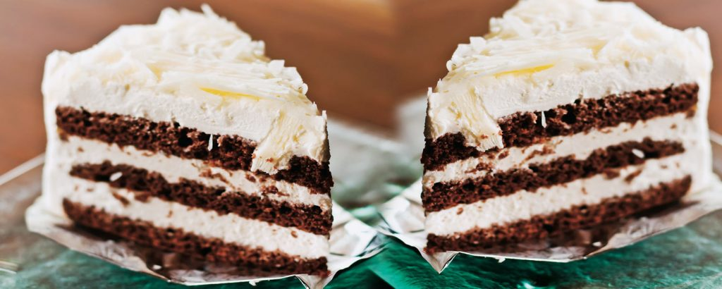 Εύκολη µαυρόασπρη τούρτα